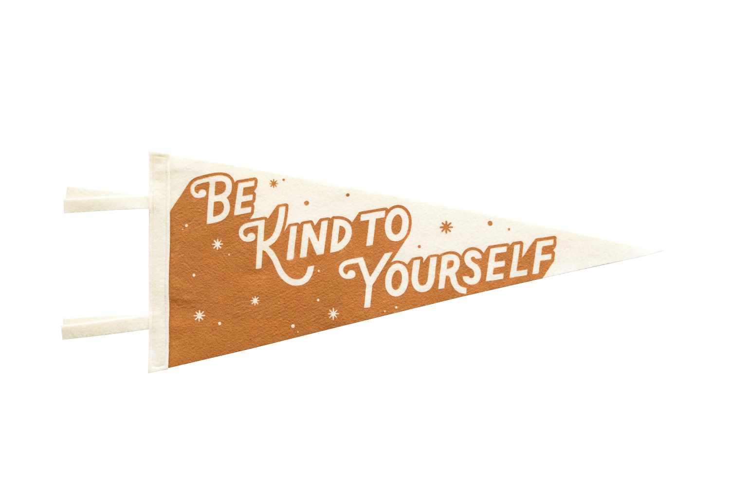 """Image of Be Kind To Yourself (Orange) 18"""" PENNANT"""