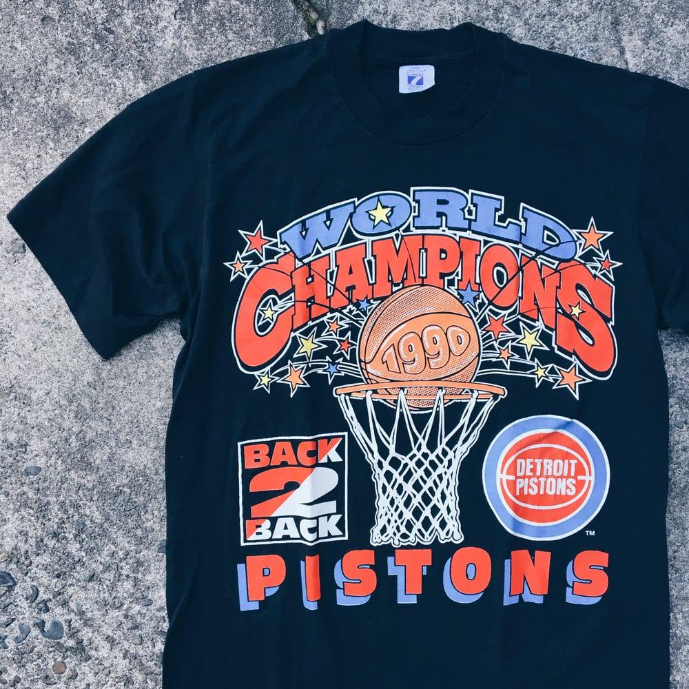 Image of Original 1990 Detroit Bad Boys Pistons Tee.