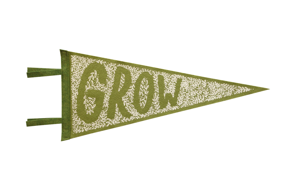 Image of GROW Felt Pennant