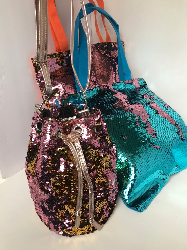 Image of Pink&Gold sequin purse