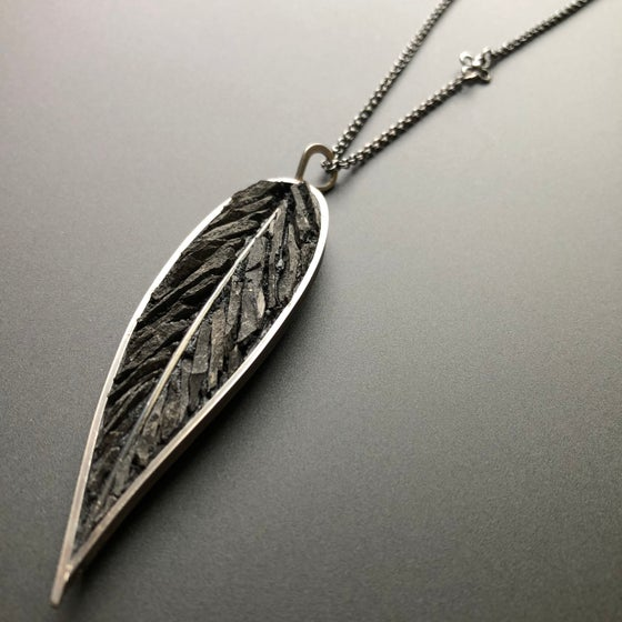 Image of Raven's Wing Micro Mosaic Pendant