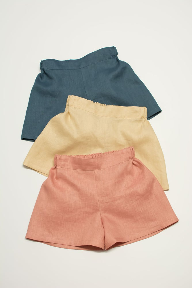 Image of Linen Hampstead shorts - made to order