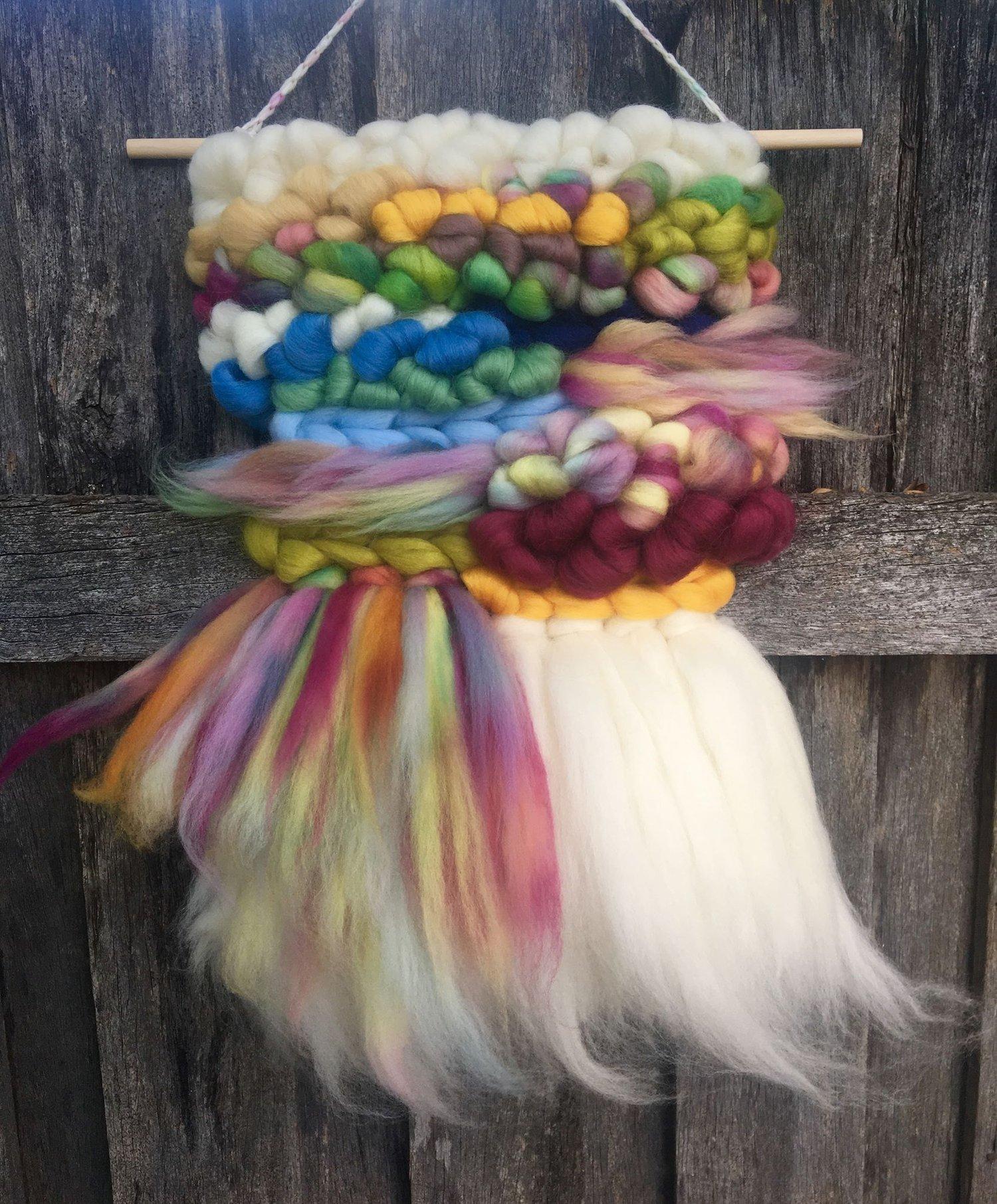 Image of Rainbow Roving Weaving