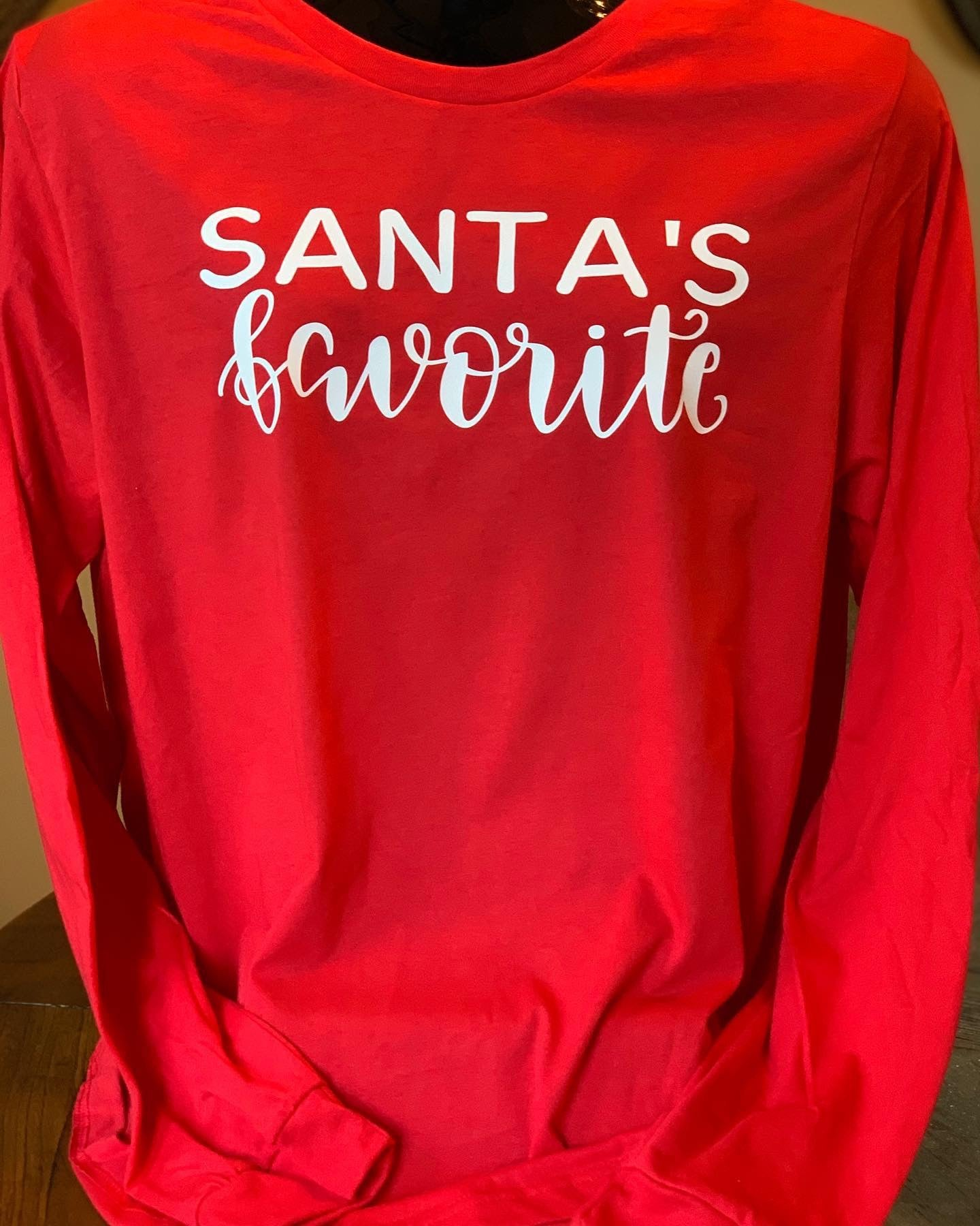 Image of Santa's Favorite Long Sleeve Tee