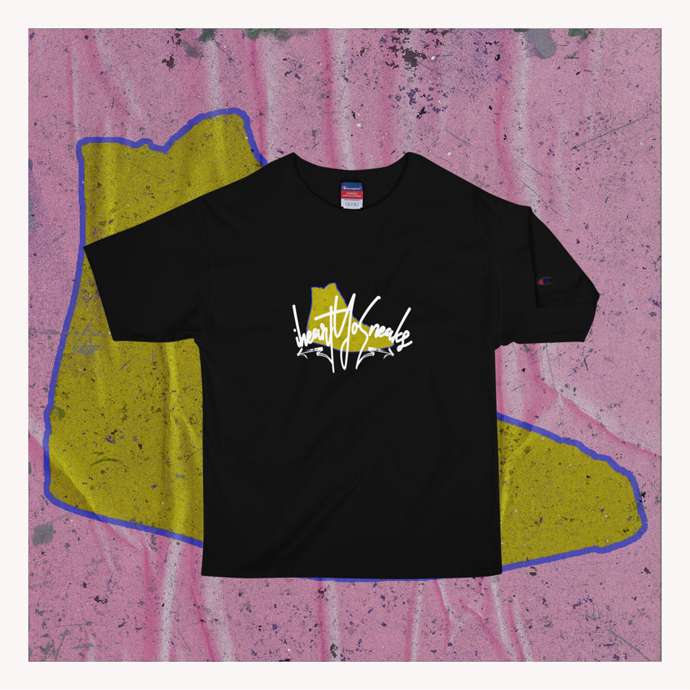 "Image of iHeartyosneak tee ""Heroes Wear Sneakers"""