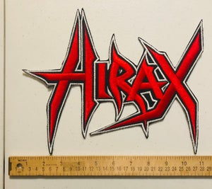 Image of HIRAX logo Large Embroidered Patch