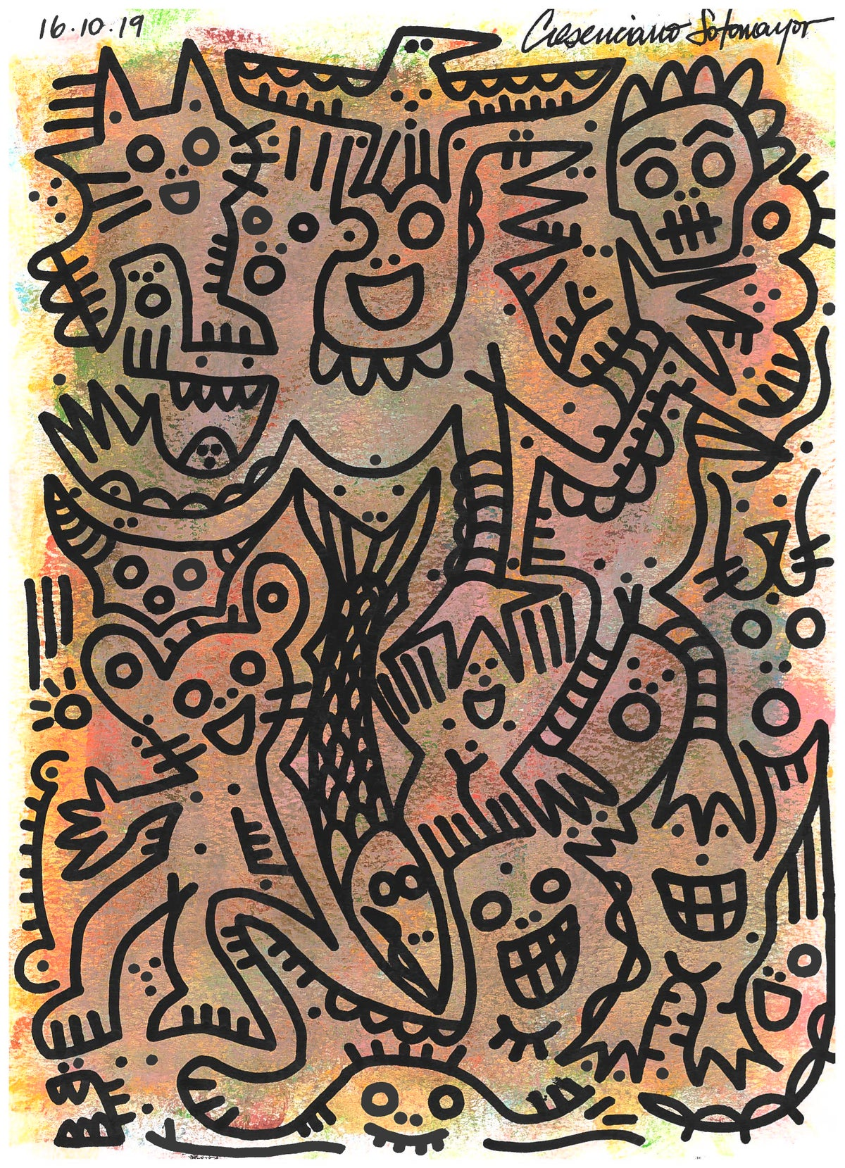 """Image of """"Entering a Voyage to Know Where"""" (Original On Paper)"""