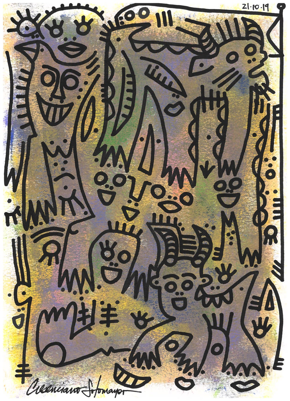 """Image of """"Celebration Of The Fawn"""" (Original on Paper)"""