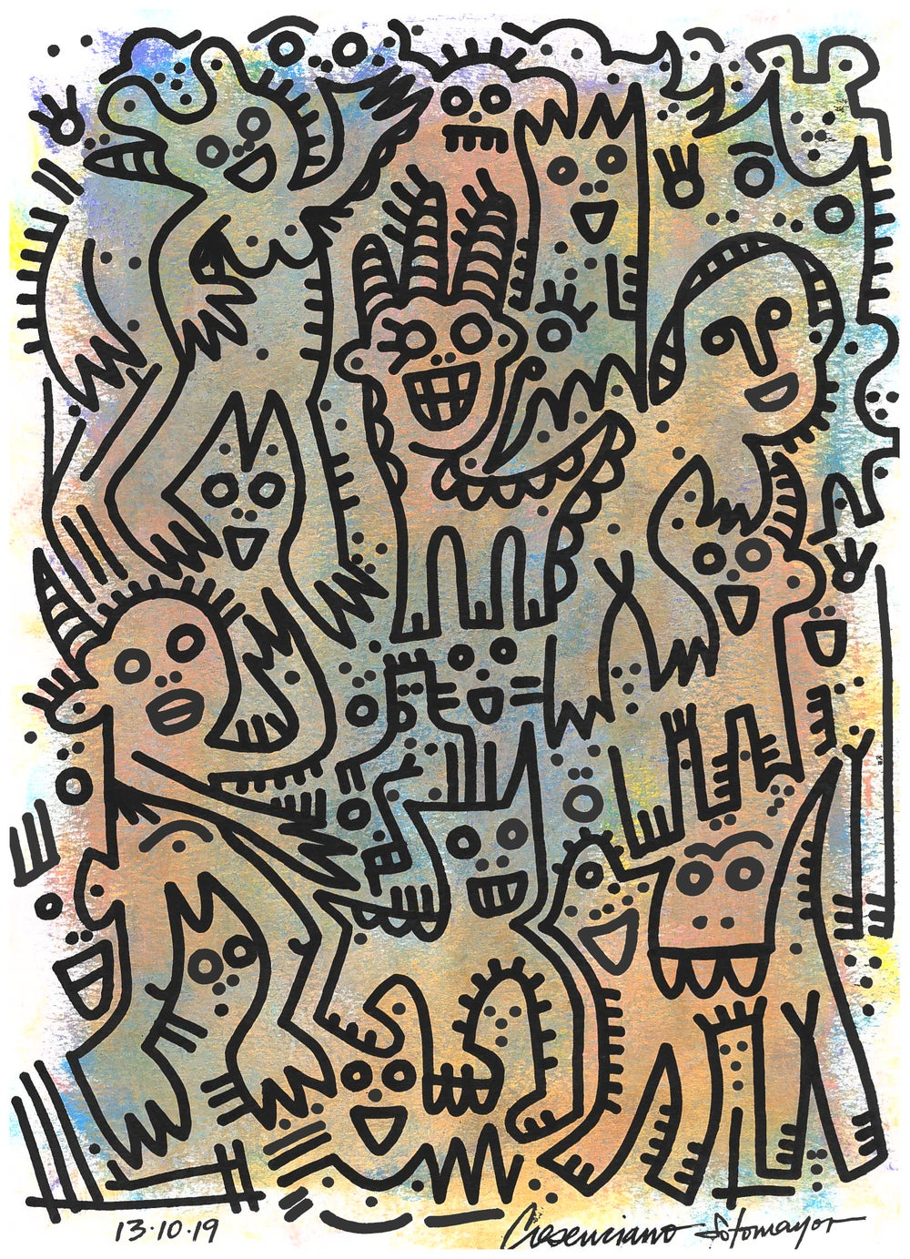 """Image of """"Within, A Beautiful Celebration"""" (Original on Paper)"""