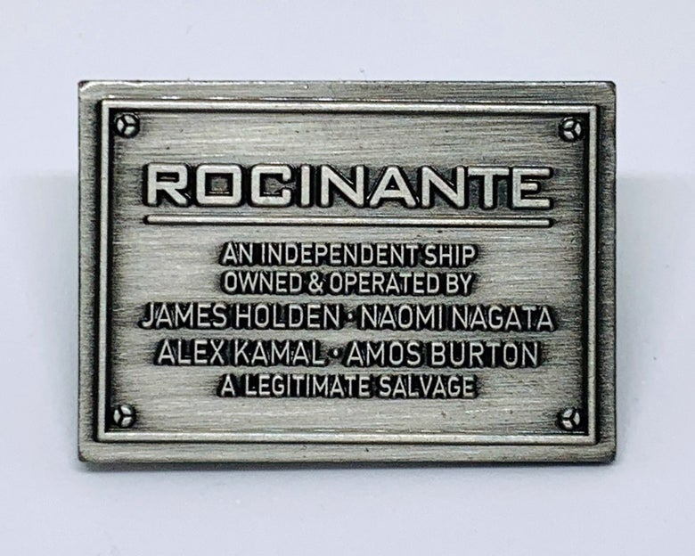 "Image of ""A Legitimate Salvage"" Rocinante Plaque (The Expanse)"