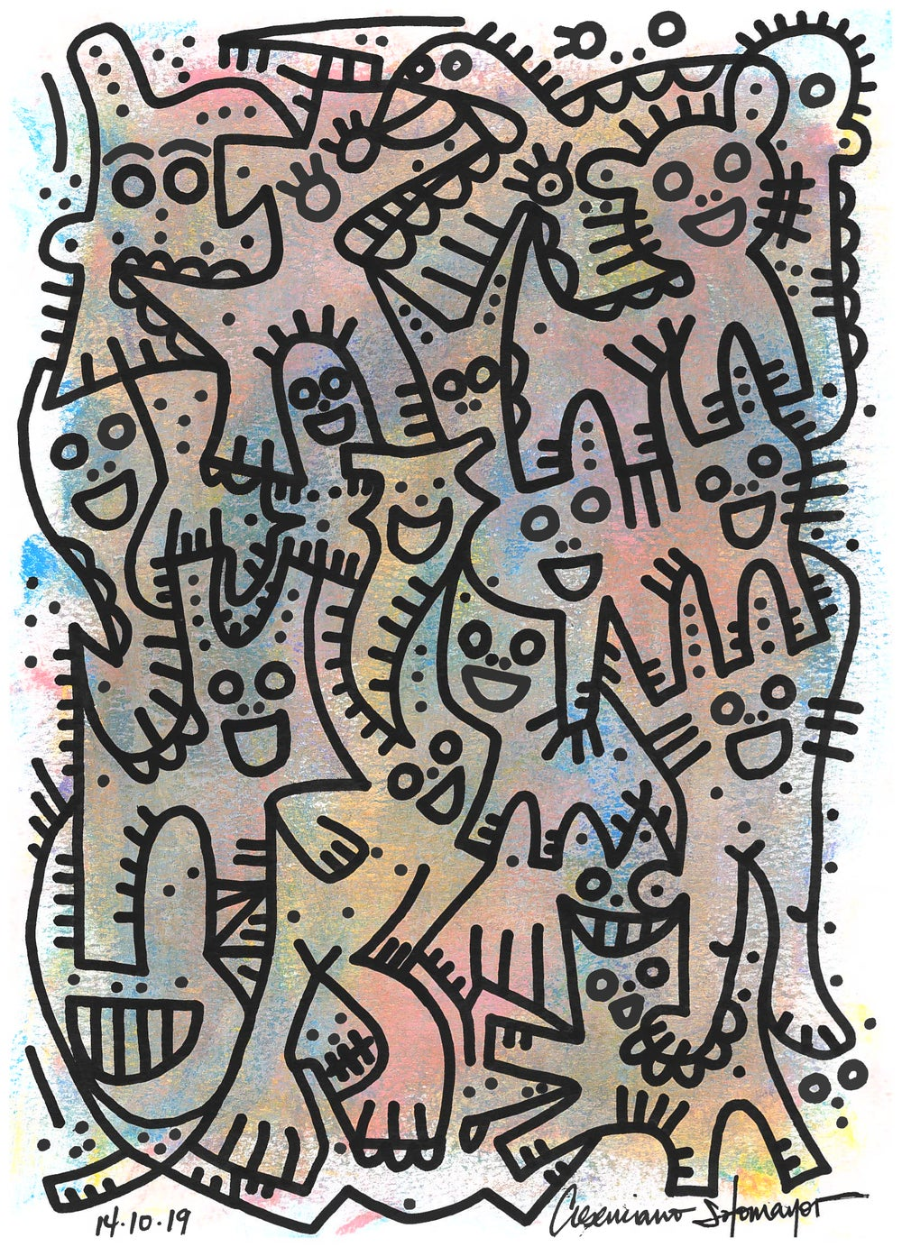 """Image of """"Focus On The Melody, We Are Here To Dance"""" (Original on Paper)"""