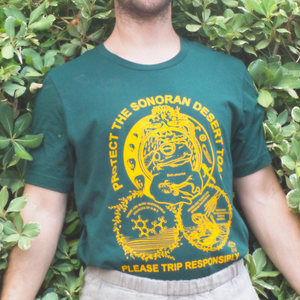 """""""Protect The Toad"""" - Yellow on Hunter Green Unisex Tee"""