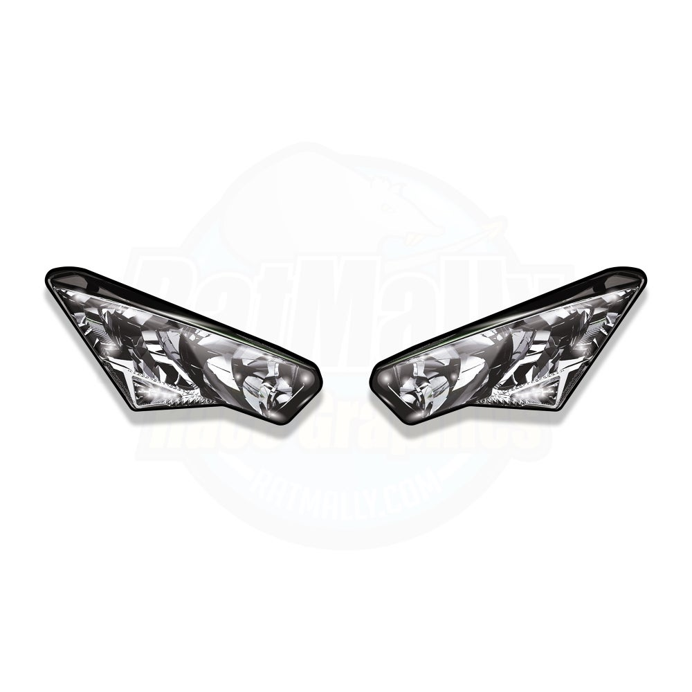 Image of Headlight Stickers To fit Kawasaki Ninja ZX-6R / 636