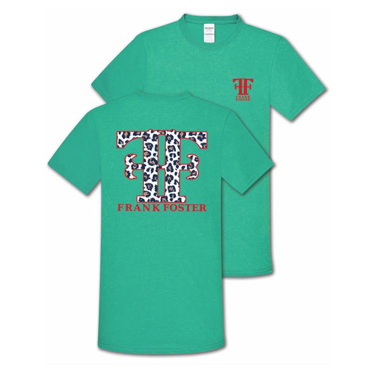 Image of Ladies White Leopard Print Shirt