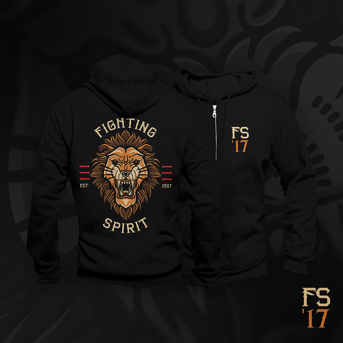 Image of 2020 Lion zip up hoodie