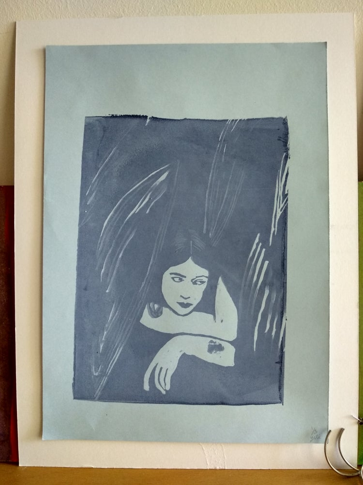 Image of Deep blue silkscreen