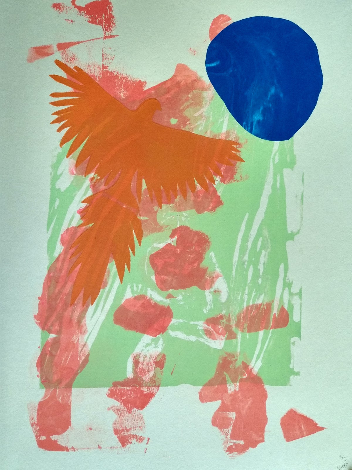 Image of Jungle heart silkscreen