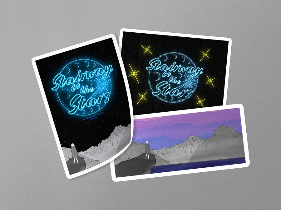 Image of Stairway to the Stars Sticker Pack