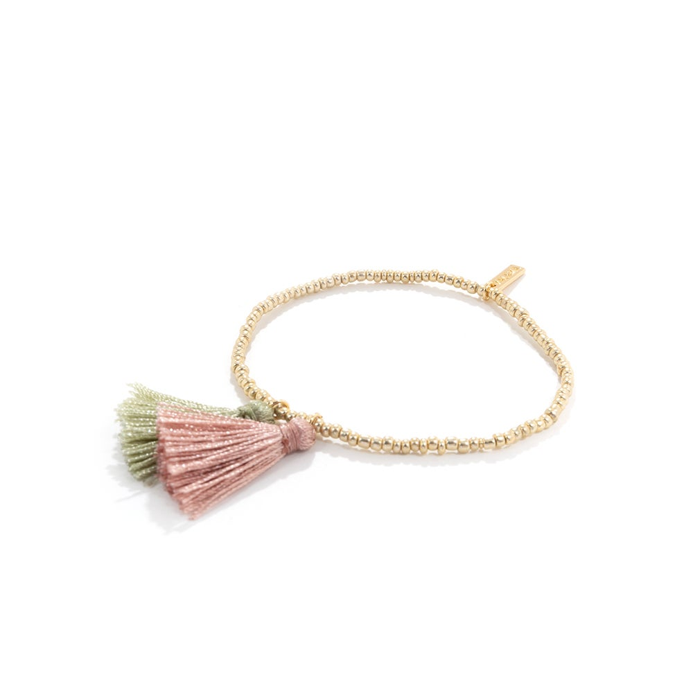 Image of BICOLOR TASSEL MINI BEADS | BRACELET