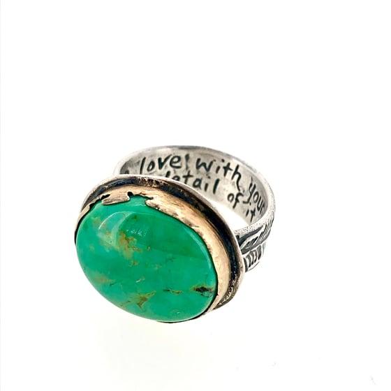 Image of Custom turquoise ring