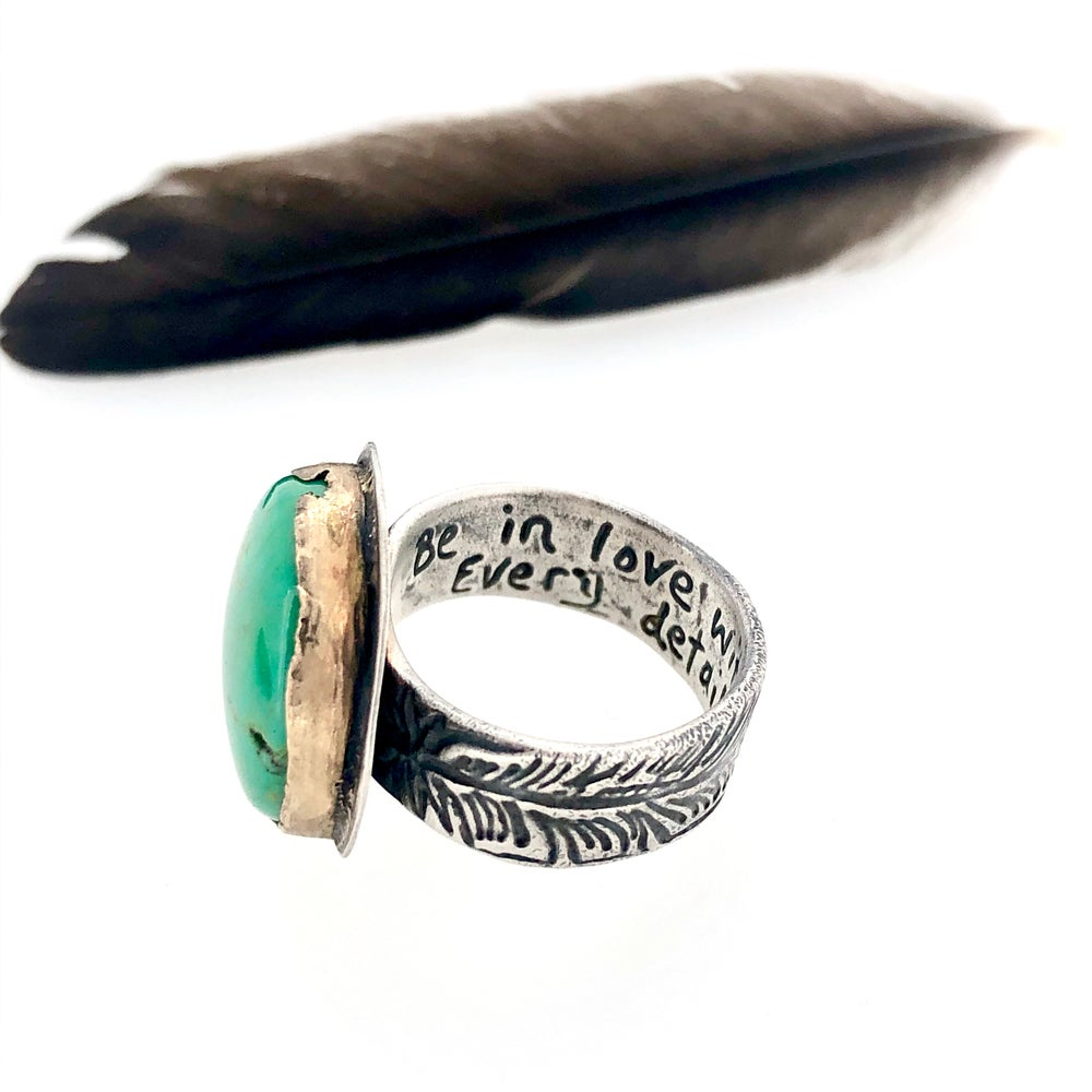 Image of Reserved for the fabulous R . A custom turquoise ring