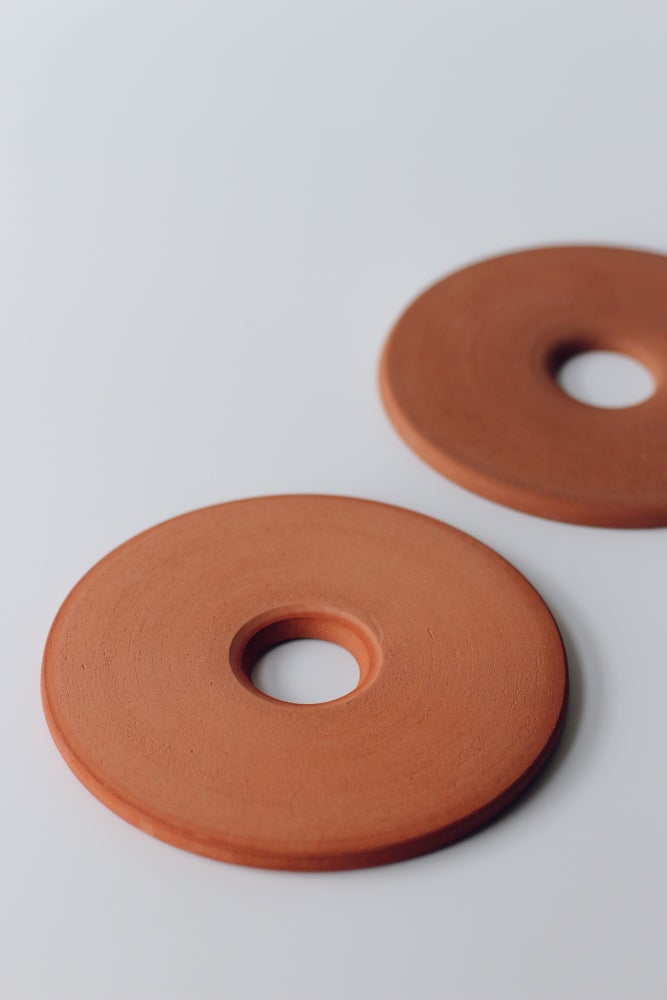 Image of Pair of Terracotta Trivets