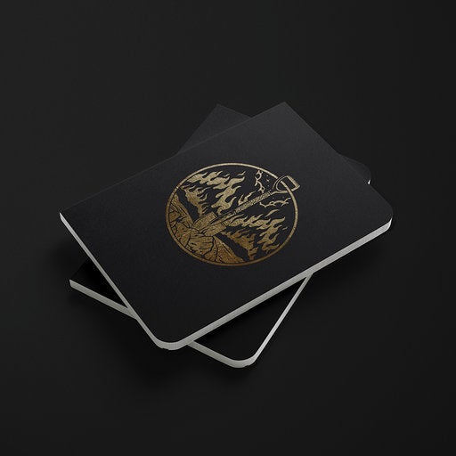 Image of 'BURN IT // BURY IT' EMBLEM A6 NOTEBOOK