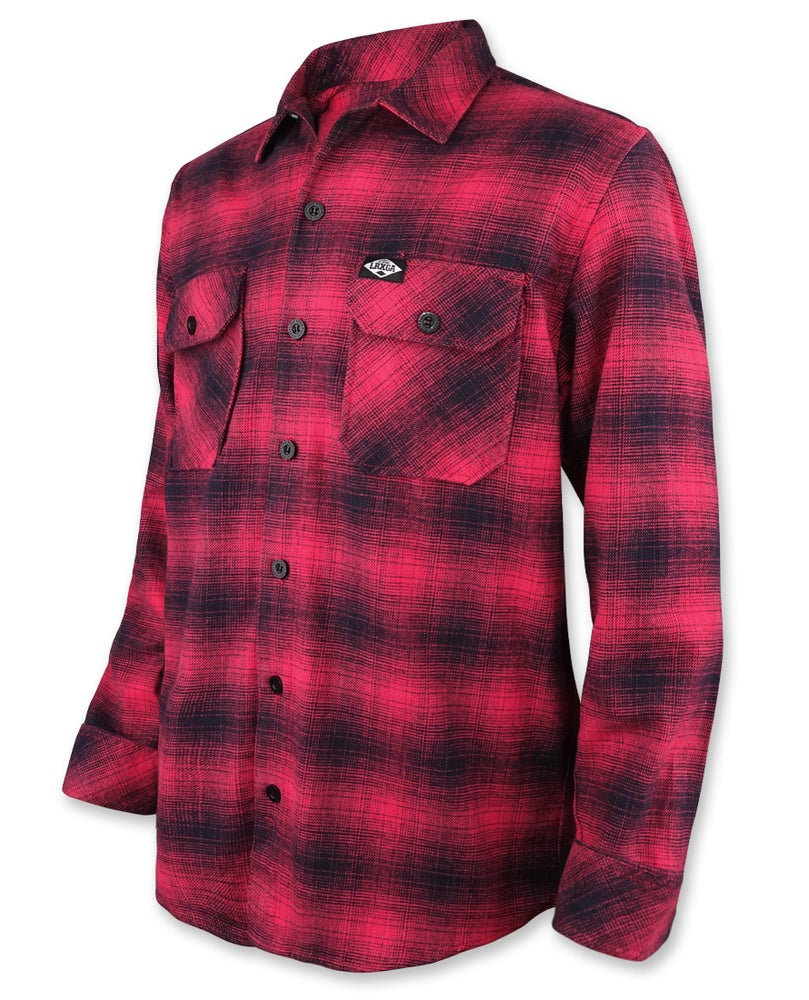 Image of Flannel Red Long Sleeve Shirt