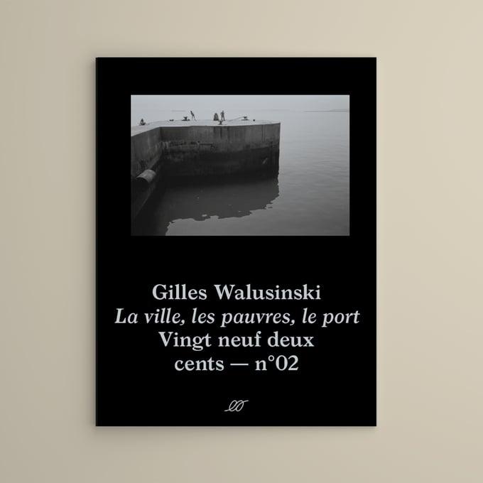 Image of Gilles Walusinski — La ville, les pauvres, le port — Pré-order — Couverture noire