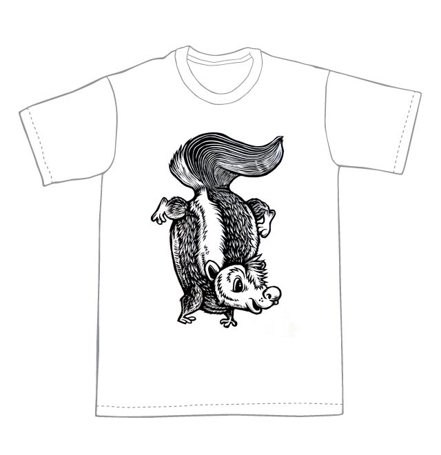 Image of In our general direction Skunk T-shirt **FREE SHIPPING**