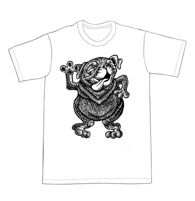 Image of Dancing Bob the Pug T-shirt **FREE SHIPPING**