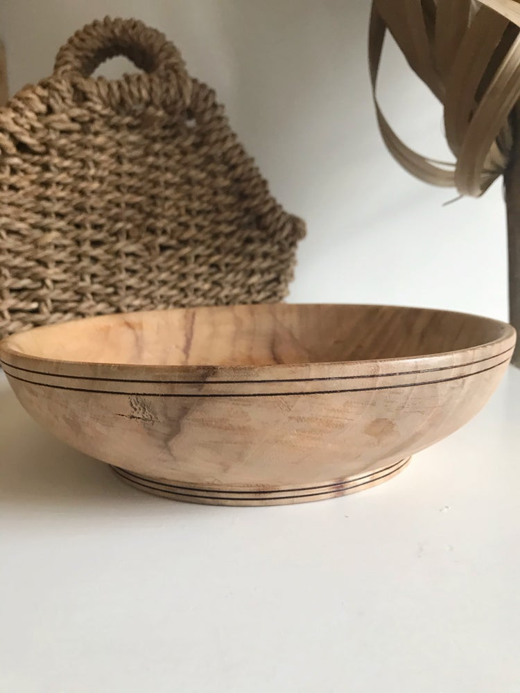 Image of Shallow Wooden Bowl #126
