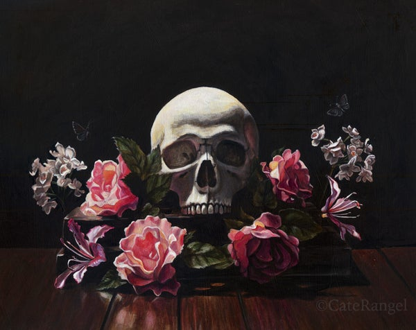 Image of Memento Mori - Special Edition Canvas Print - Hand Accented