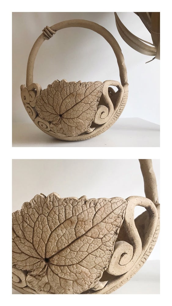 Image of Handmade Clay Basket