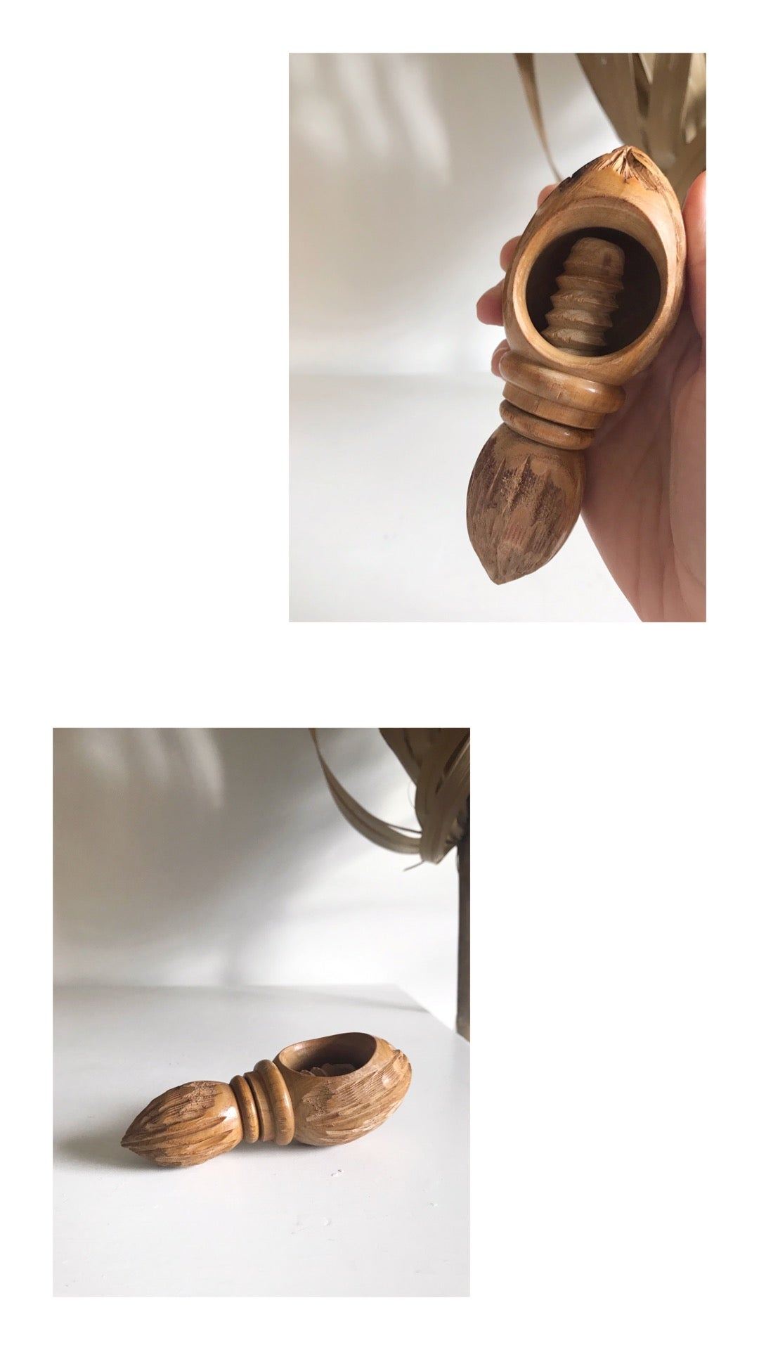 Image of Hand Carved Wooden Nut Cracker