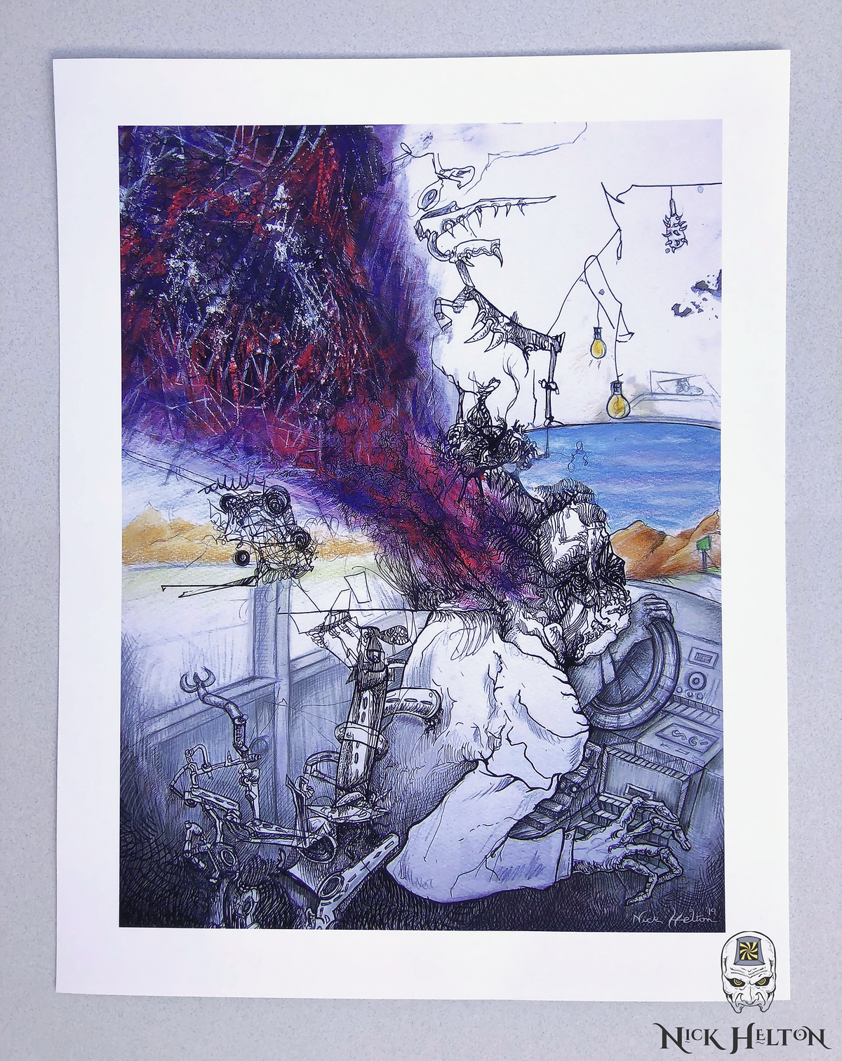 """Image of """"One Day We'll Stay Awake"""" Open Edition Print"""