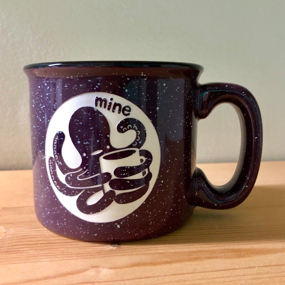 Image of possessive octopus camp mug