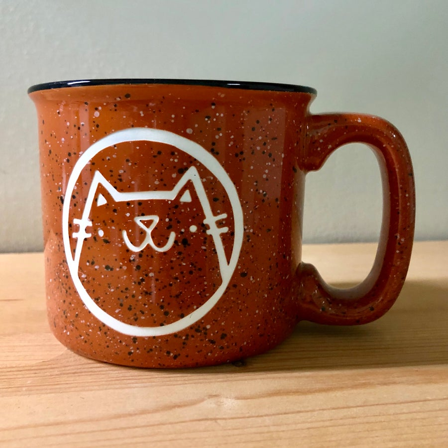Image of cat camp mug (new colors)