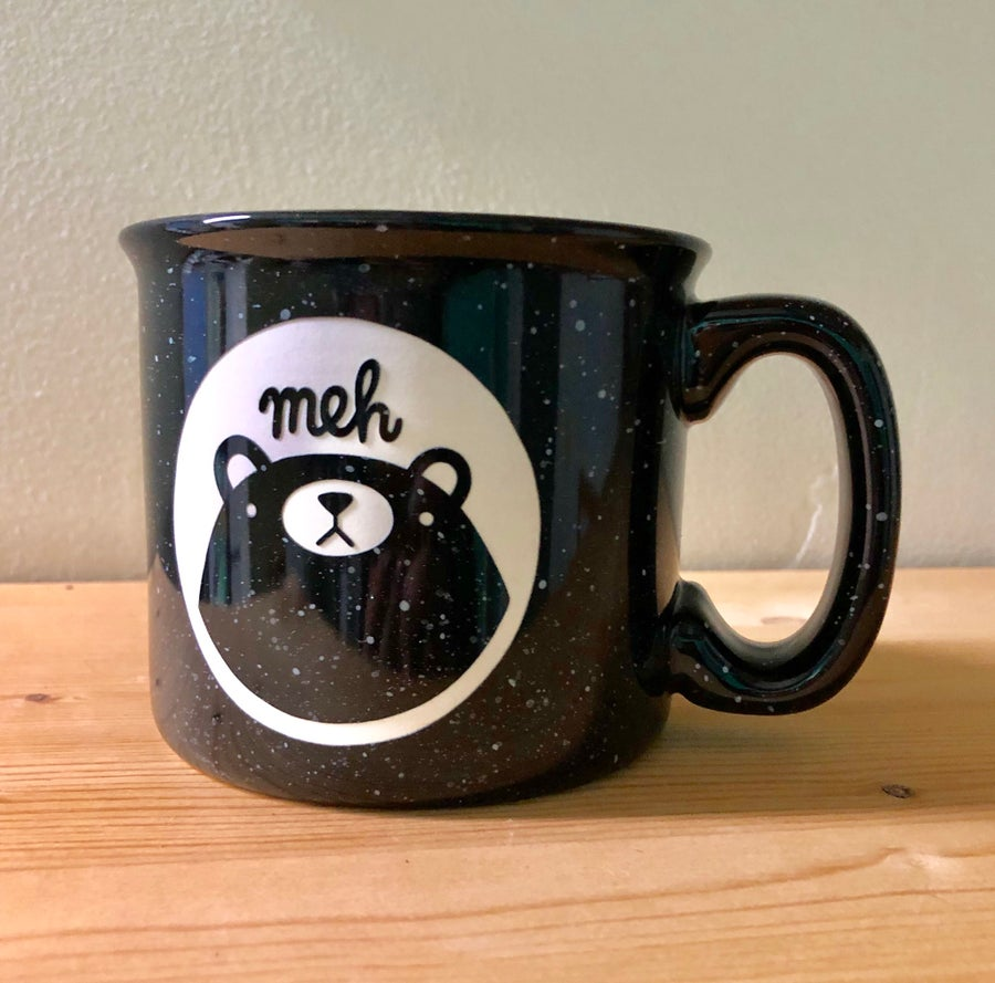Image of meh bear camp mug