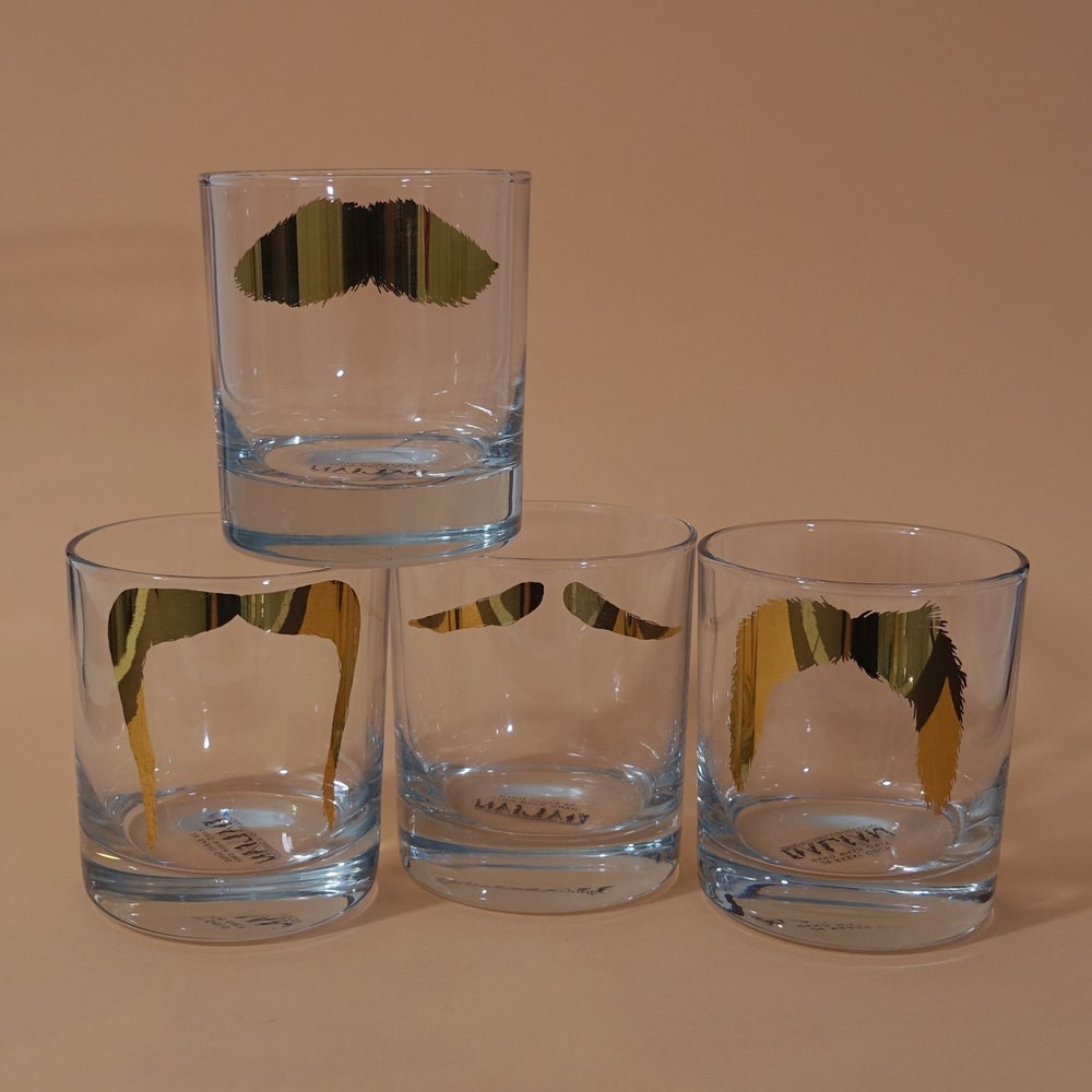 Image of Golden Moustache Tumblers - Set of 4