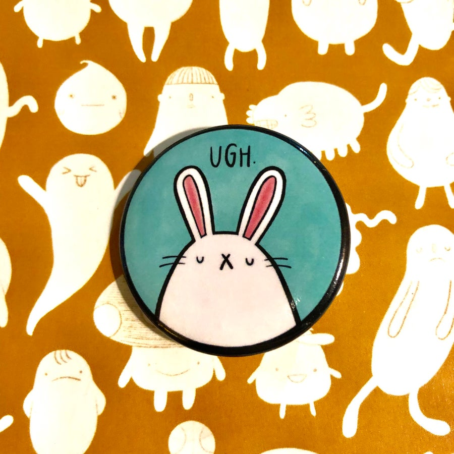 "Image of UGH. bunny 1.25"" buttons"