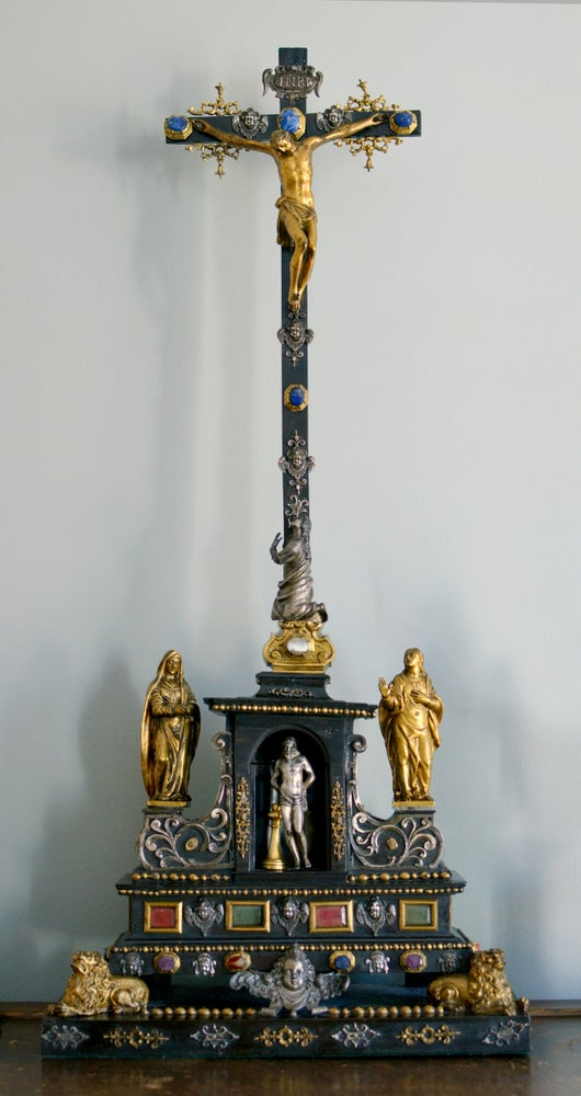 Image of 17th century Roman Altar Cross from the estate of a Belgian Princess