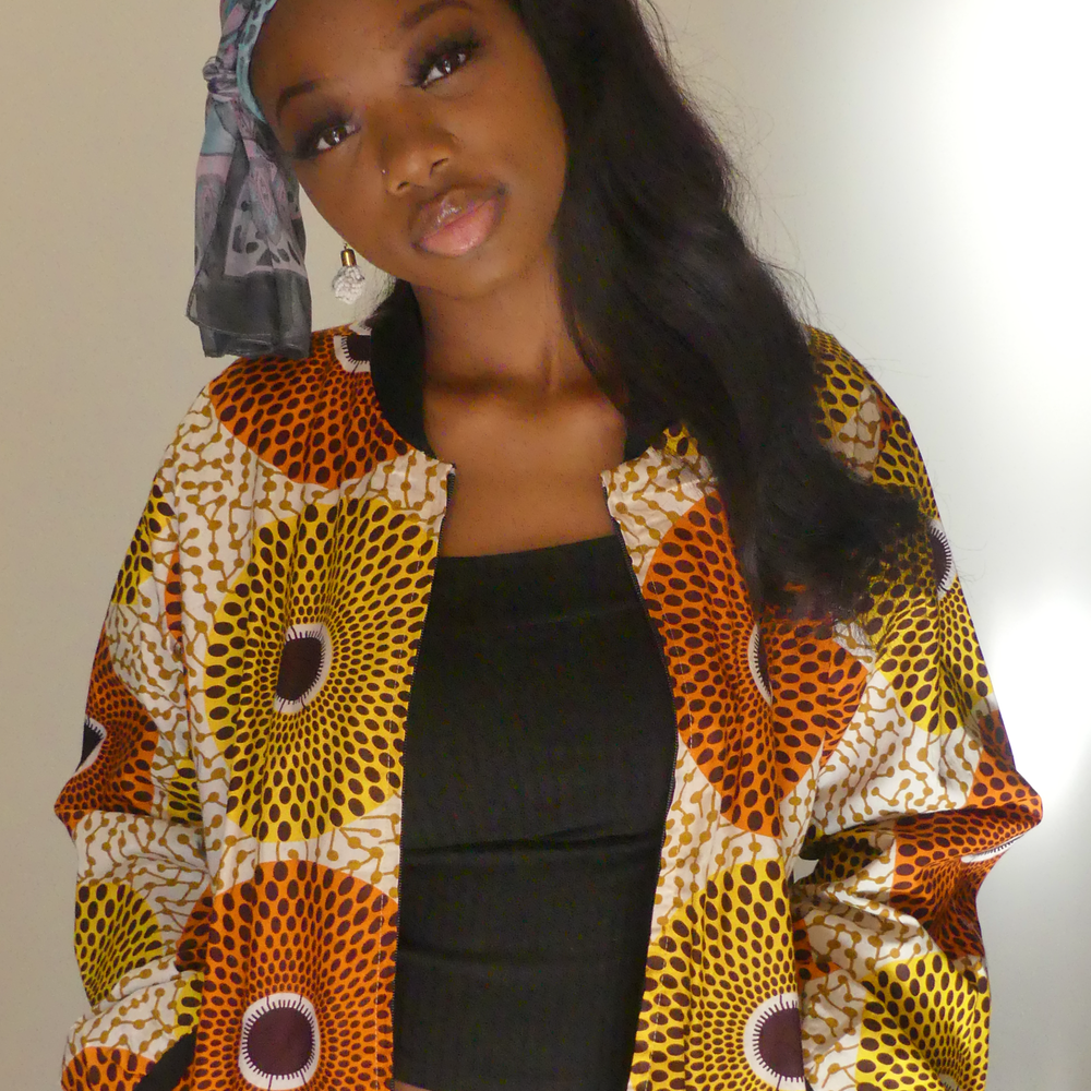 Image of African Print Bomber Jacket