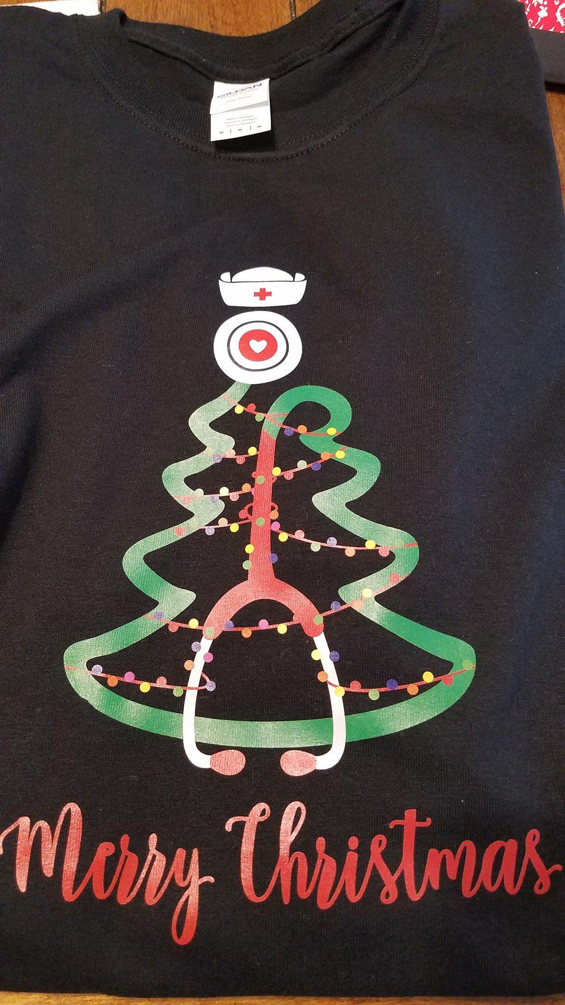 Image of Stethoscope Christmas Tree Shirt