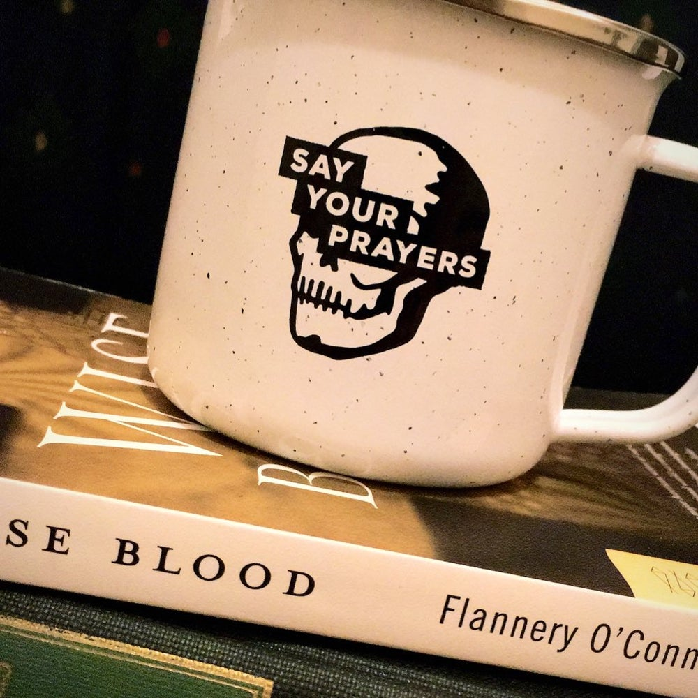 "Image of ""Say Your Prayers"" Metal Camp Mug"