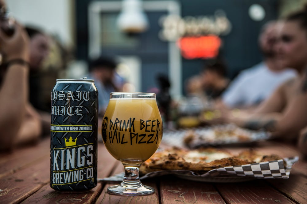 Image of Drink Beer Hail Pizza Tulip.