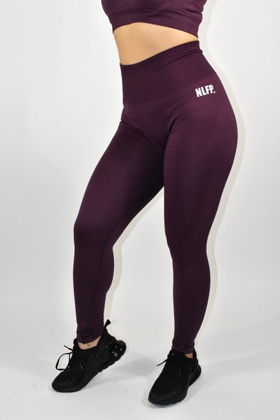 Image of VICTORIA SEAMLESS LEGGINGS DARK PURPLE