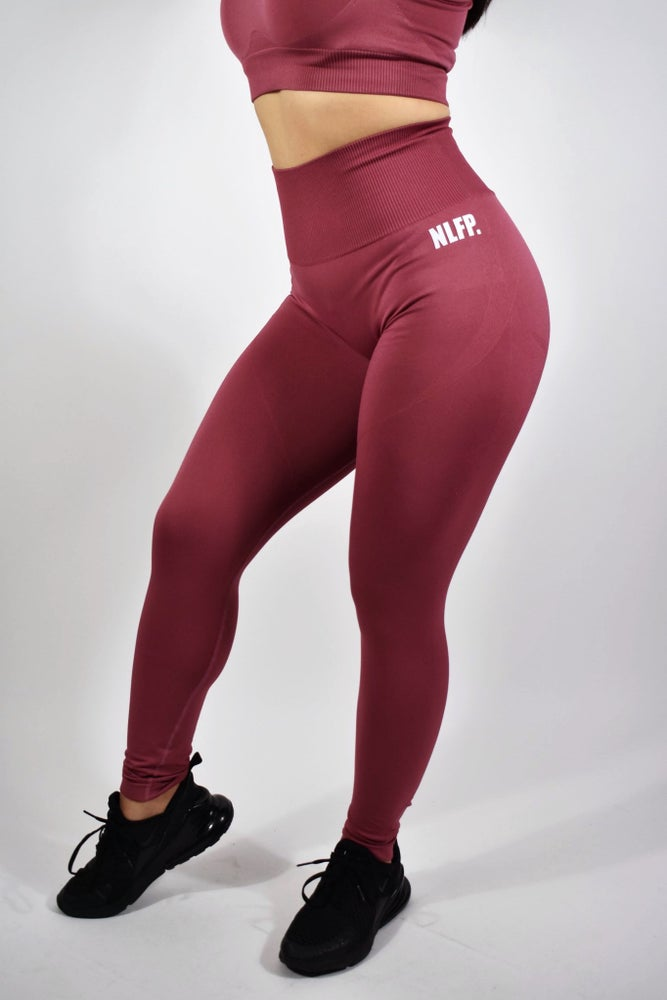 Image of VICTORIA SEAMLESS LEGGINGS  BURGUNDY