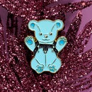 Image 2 of Glitter Pin - Leather Bear