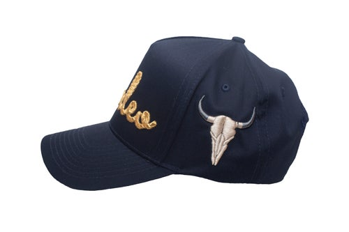 "Image of ""Rodeo"" Rope Navy Blue Trucker Hat"